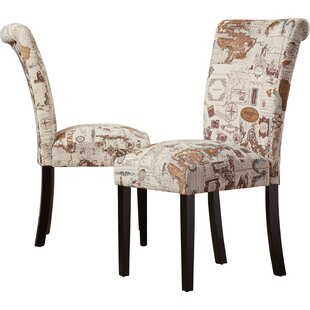 Clermont Upholstered Dining Chair (Set of 2) Alcott Hill