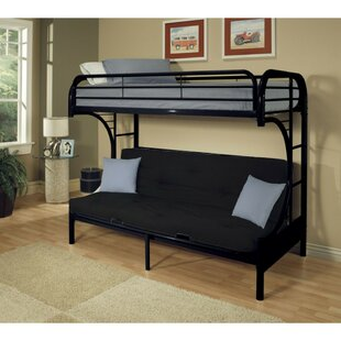 Easingwold Metal Twin over Full Futon Bunk Bed with Built-in Side Ladders by Harriet Bee