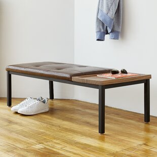 Gus* Modern Carlaw Leather Bench