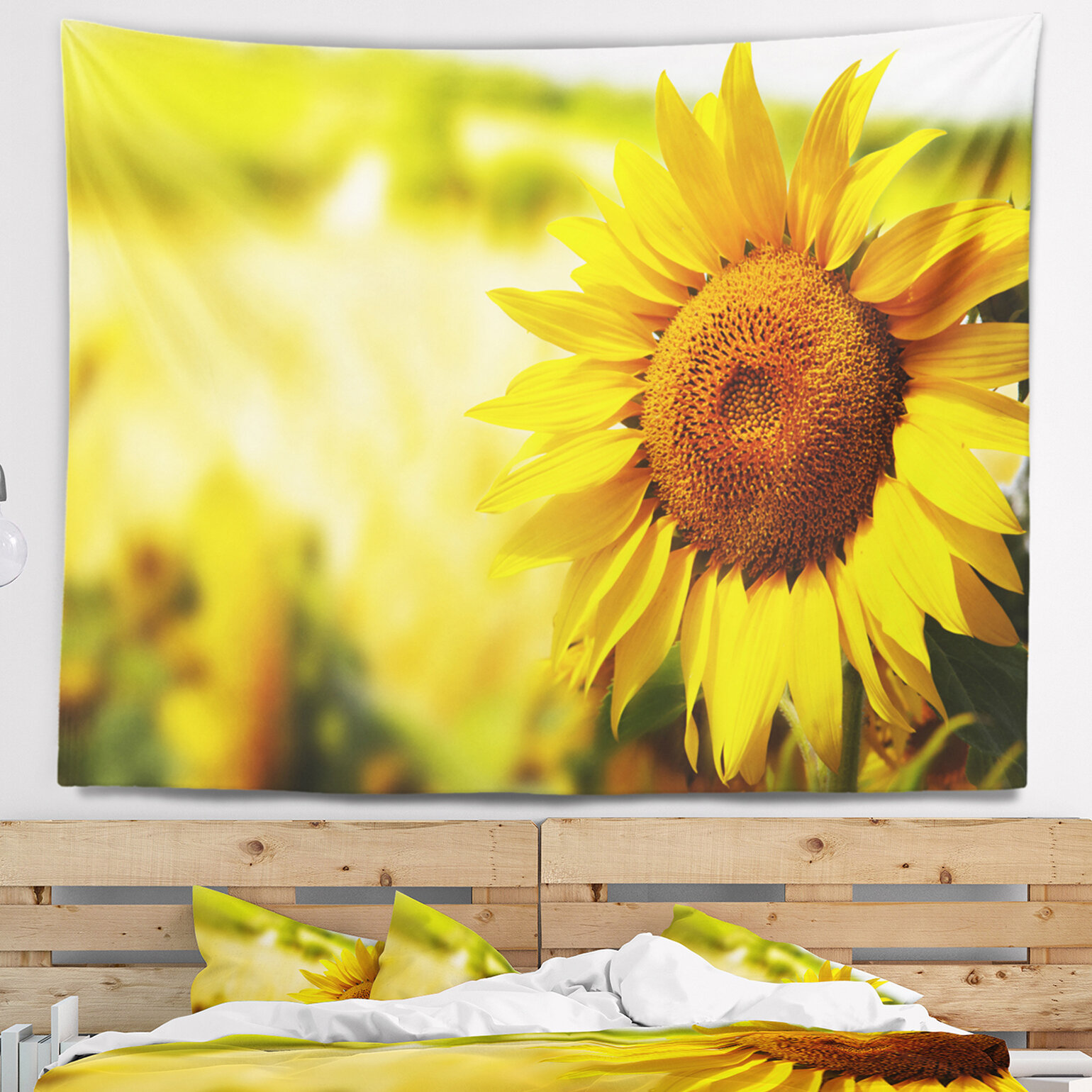 East Urban Home Beautiful Tuscany Sunflower Tapestry and Wall ...