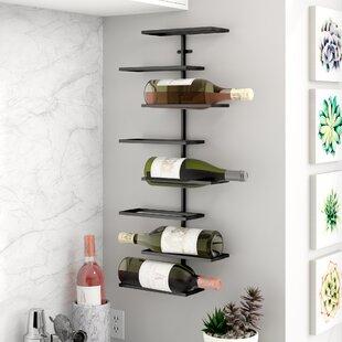 Wynkoop 8 Bottle Wall Mounted Wine Rack