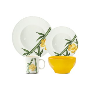 Biona 16 Piece Dinnerware Set, Service for 4