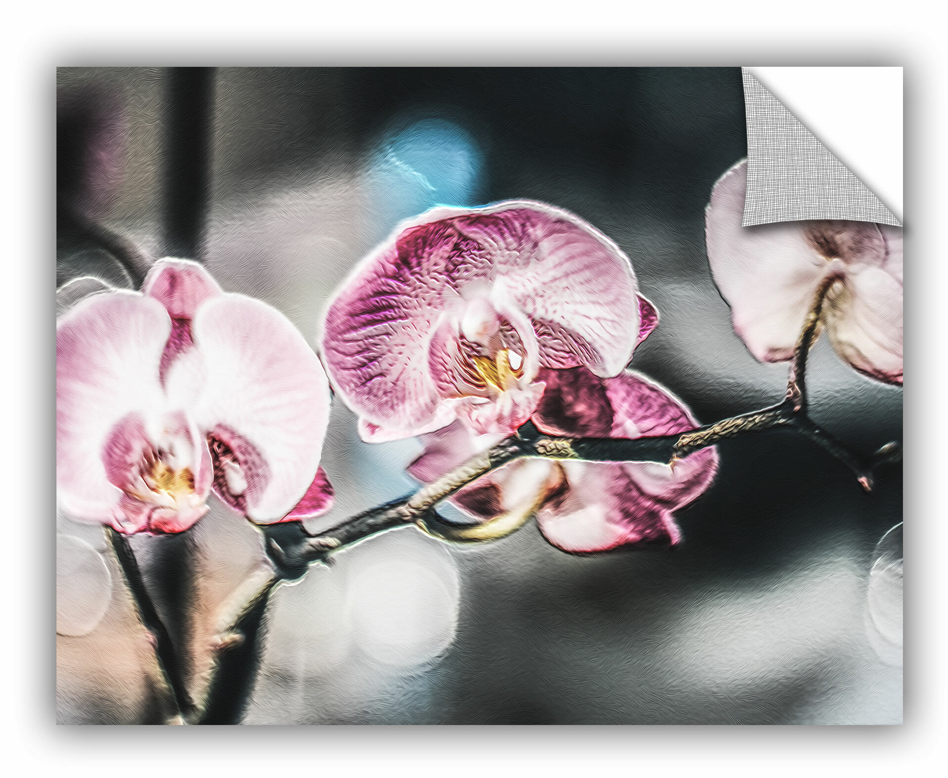 Winston Porter Pink Flare Flowers Removable Wall Decal Wayfair