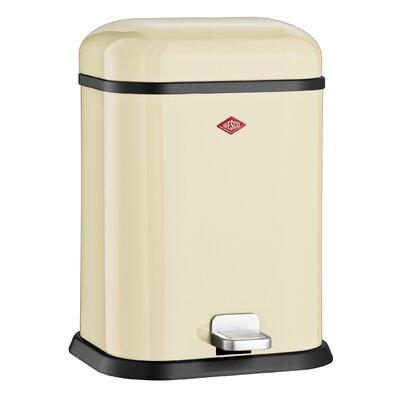 Wesco Singleboy 3.4 Gallon Step On Bathroom Trash Can Color: Almond