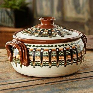 Troyan 3 Qt. Tribute Ceramic Round Casserole