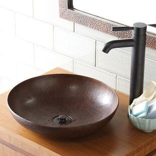 Native Trails, Inc. Maestro Metal Circular Vessel Bathroom Sink