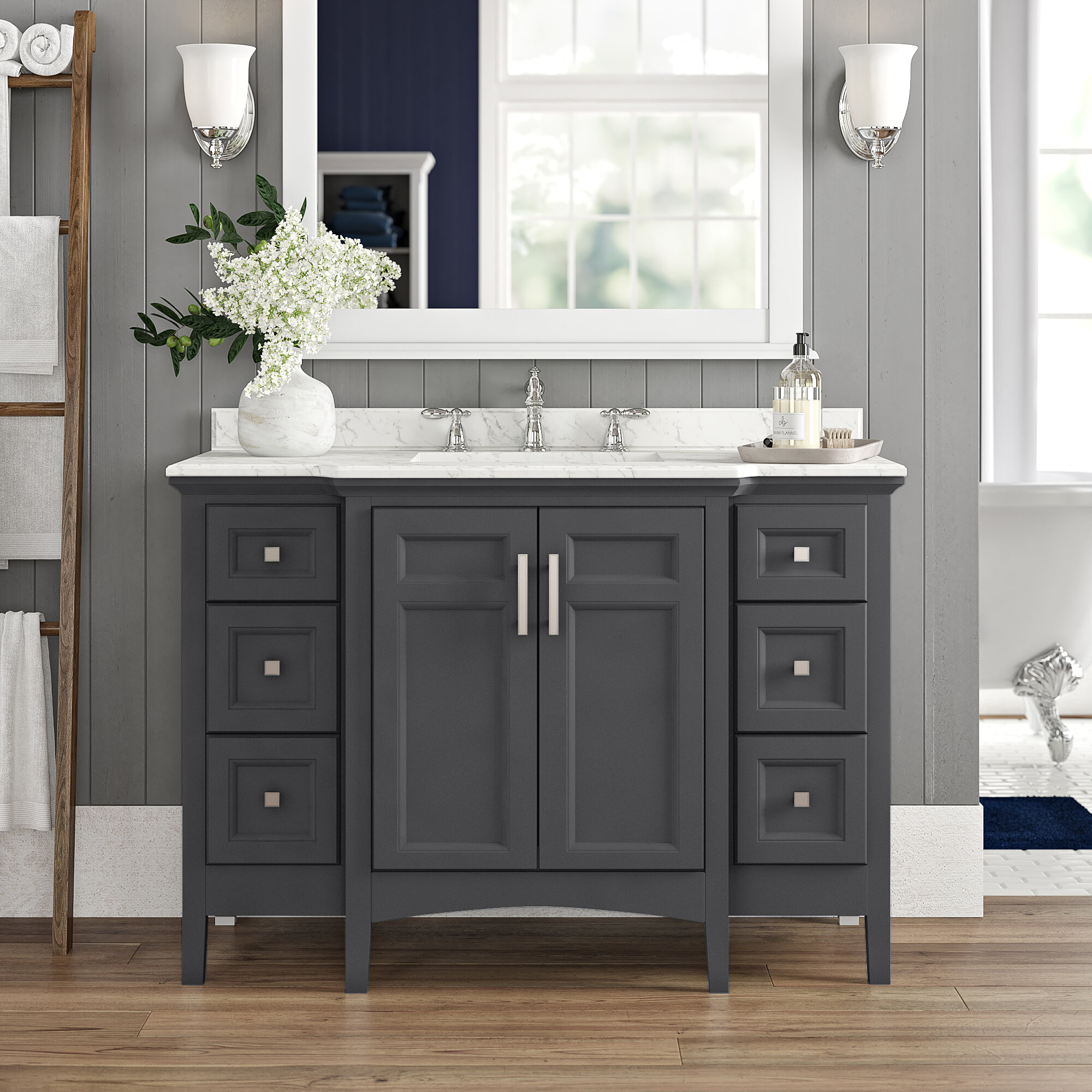 Luz 48 Single Bathroom Vanity Set Reviews Birch Lane