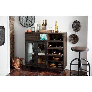Williston Forge Evie Trolley Bar Cabinet