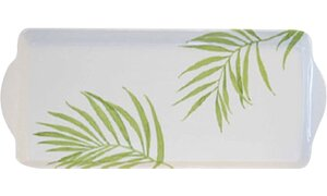 Bamboo Leaf Melamine Tidbit Rectangle Serving Platter