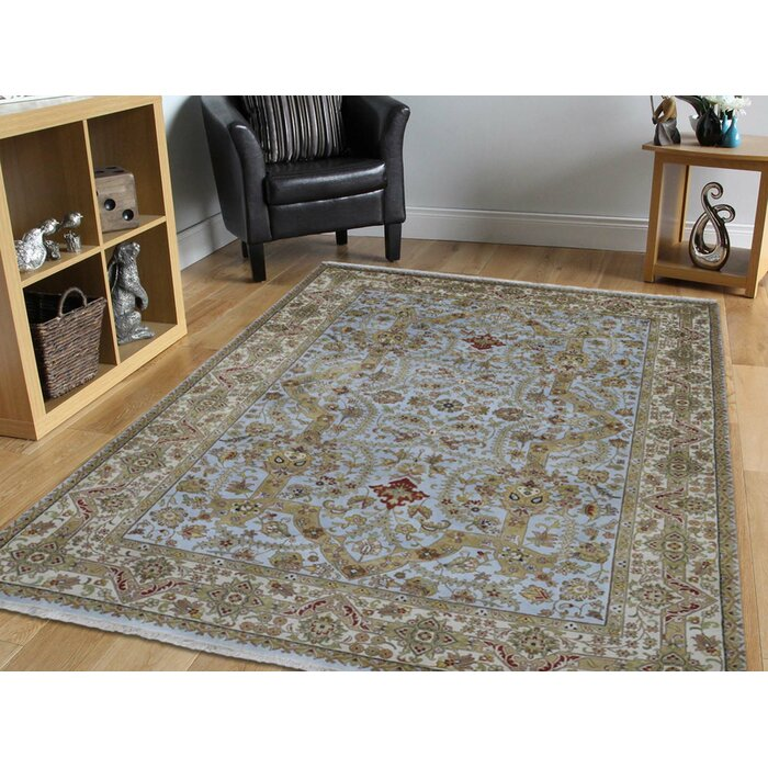 One Of A Kind Beason Design 300 Kpsi New Zealand Hand Knotted 6 X 8 Wool Gray Area Rug