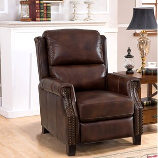 Adler Leather Manual Recliner by DarHome Co