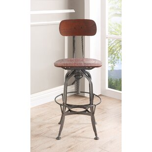 Quinton Adjustable Height Swivel Bar Stool 17 Stories