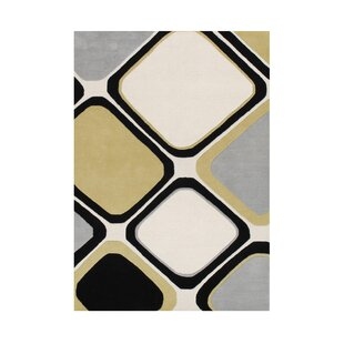 Reviews Pittsford Hand Tufted Wool Black/Steel Gray Area Rug By Orren Ellis