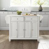 Baines Kitchen Island with Granite Top by August Grove®