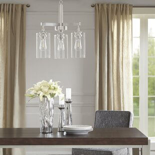 Halsey 3-Light Shaded Chandelier by Madison Park Signature