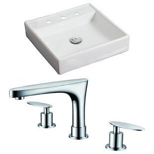 Compare & Buy Ceramic Square Vessel Bathroom Sink with Faucet By American Imaginations