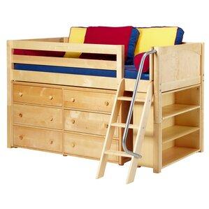 Kicks2 Low Loft Bed with Storage by Maxtrix Kids