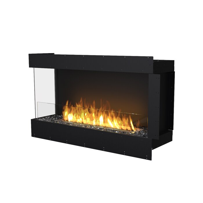 Left Corner Wall Mounted Bio Ethanol Fireplace Insert