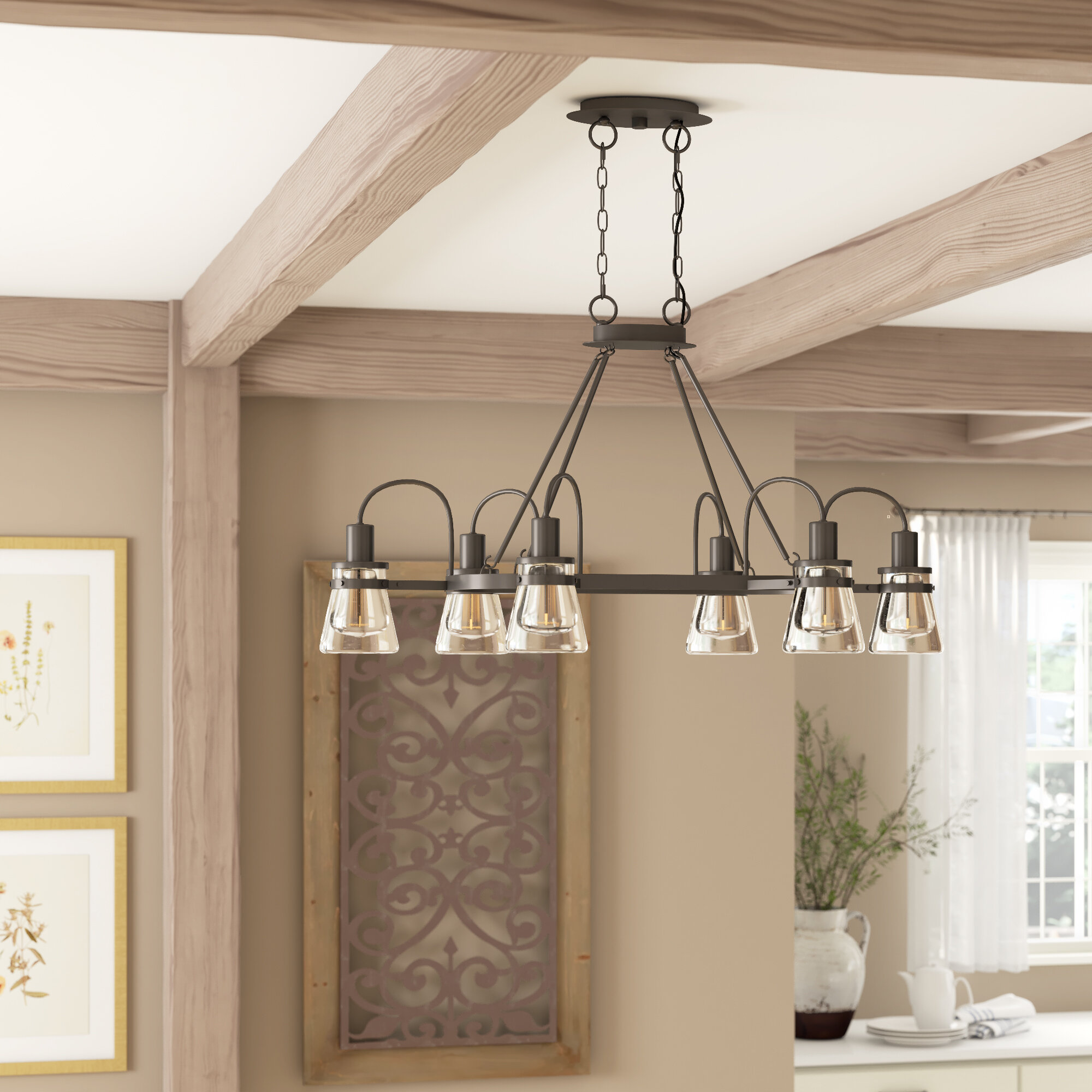 Barnhart 6 Light Shaded Classic Traditional Chandelier Reviews Birch Lane