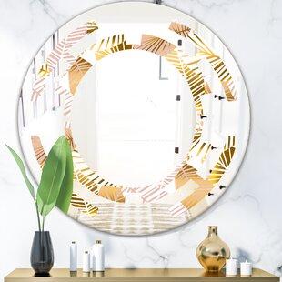 Space Palm Leaves II Coastal Frameless Wall Mirror by East Urban Home