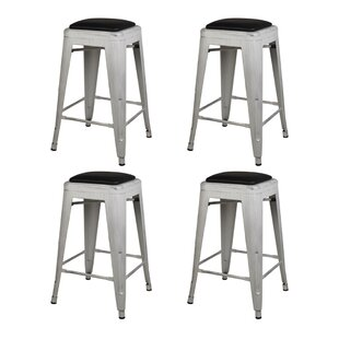 Langley Metal 24 Bar Stool (Set of 4) by Williston Forge