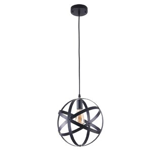 Pounds 1-Light Globe Pendant