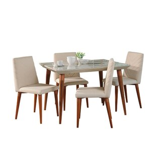Lemington 5 Piece Dining Set George Oliver