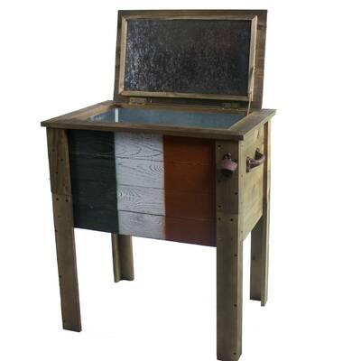 57 Qt Wooden Patio Cooler