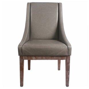 Charmant Metal Frame Leather Chair | Wayfair
