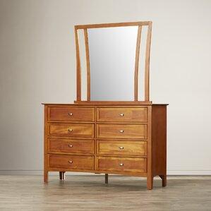 Aditya 8 Drawer Combo Dresser with Mirror by Brayden Studio