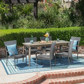 Rosecliff Heights Hobbs 5 Piece Sunbrella Dining Set Wayfair
