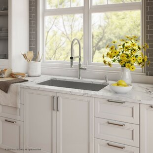 "Kraus Handmade Series 30"" x 18"" Undermount Kitchen Sink with Faucet and Soap Dispenser"