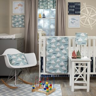 Affordable Steffan Little Sail Boat 4 Piece Crib Bedding Set ByHarriet Bee