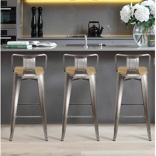 Read Reviews Mcvay 30 Bar Stool (Set of 4) by Williston Forge Reviews (2019) & Buyer's Guide