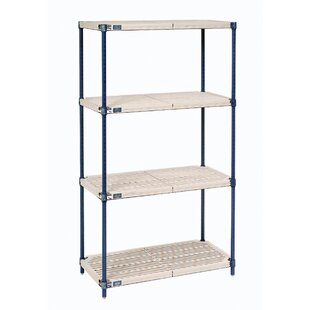 Plastic Mat 4 Shelf Shelving Unit Starter