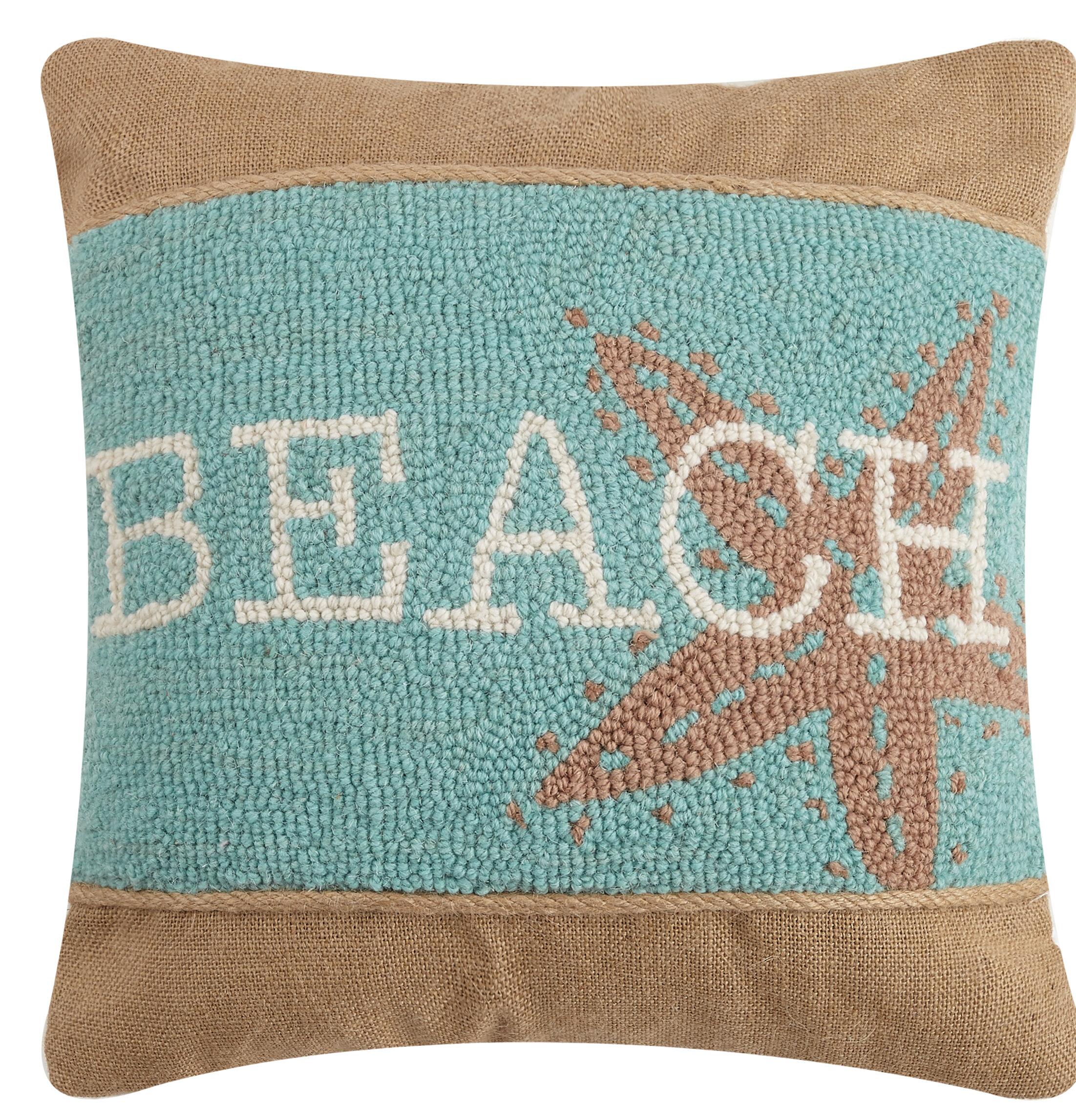 Nautical Beach Teal Throw Pillows You Ll Love In 2021 Wayfair