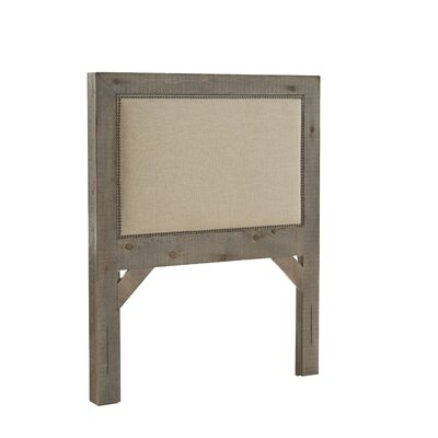 Castagnier Upholstered Panel Headboard Lark Manor Color: Weathered Gray, Size: Twin