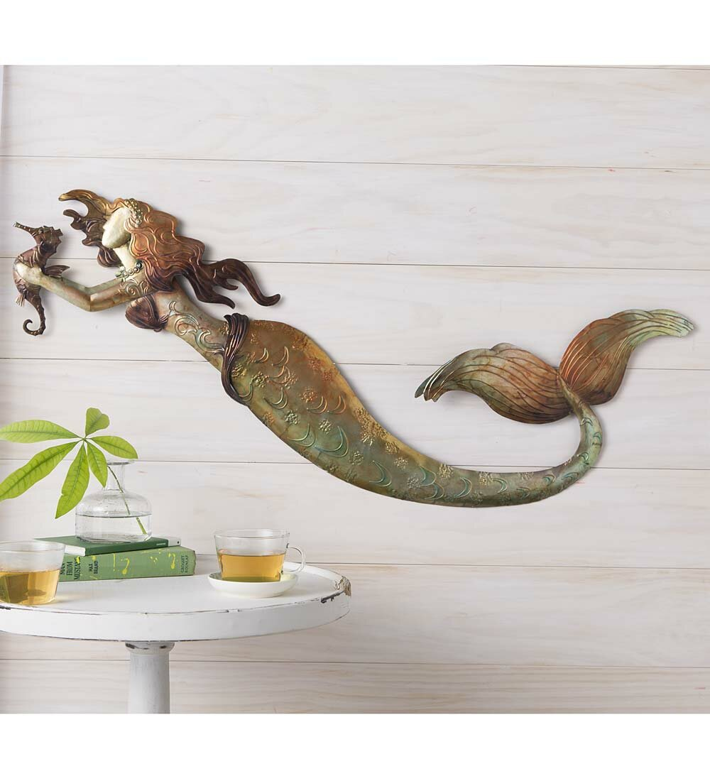 Wind U0026 Weather Metal Mermaid Wall Décor U0026 Reviews | Wayfair