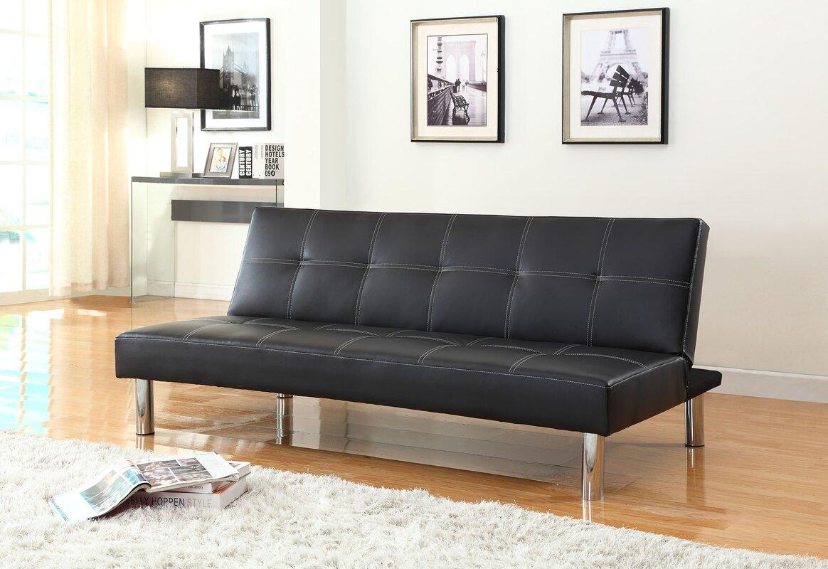 issac futon convertible sofa nathanielhome issac futon convertible sofa  u0026 reviews   wayfair  rh   wayfair