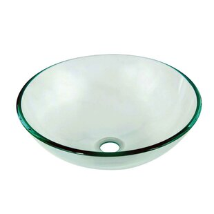 Check Prices Tempered Glass Circular Vessel Bathroom Sink By Dawn USA