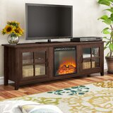 Dake TV Stand for TVs up to 78 with Electric Fireplace Included by Charlton Home®