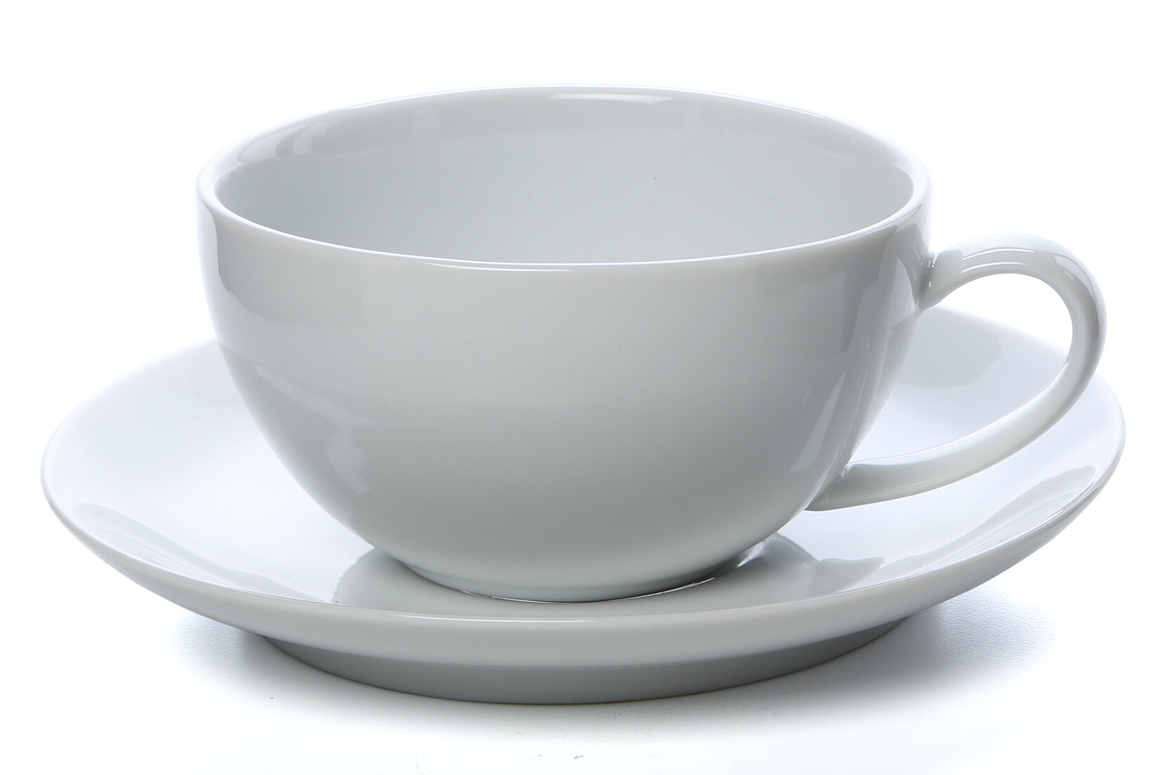 Ten Strawberry Street Royal Coupe White Oversized 10 Oz Teacup And Saucer Reviews Wayfair