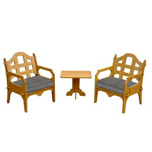 Burliegh 3 Piece Conversation Set With Cushions by Loon Peak Best #1