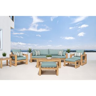 Mcclain 8 Piece Sofa Seating Group with Cushions