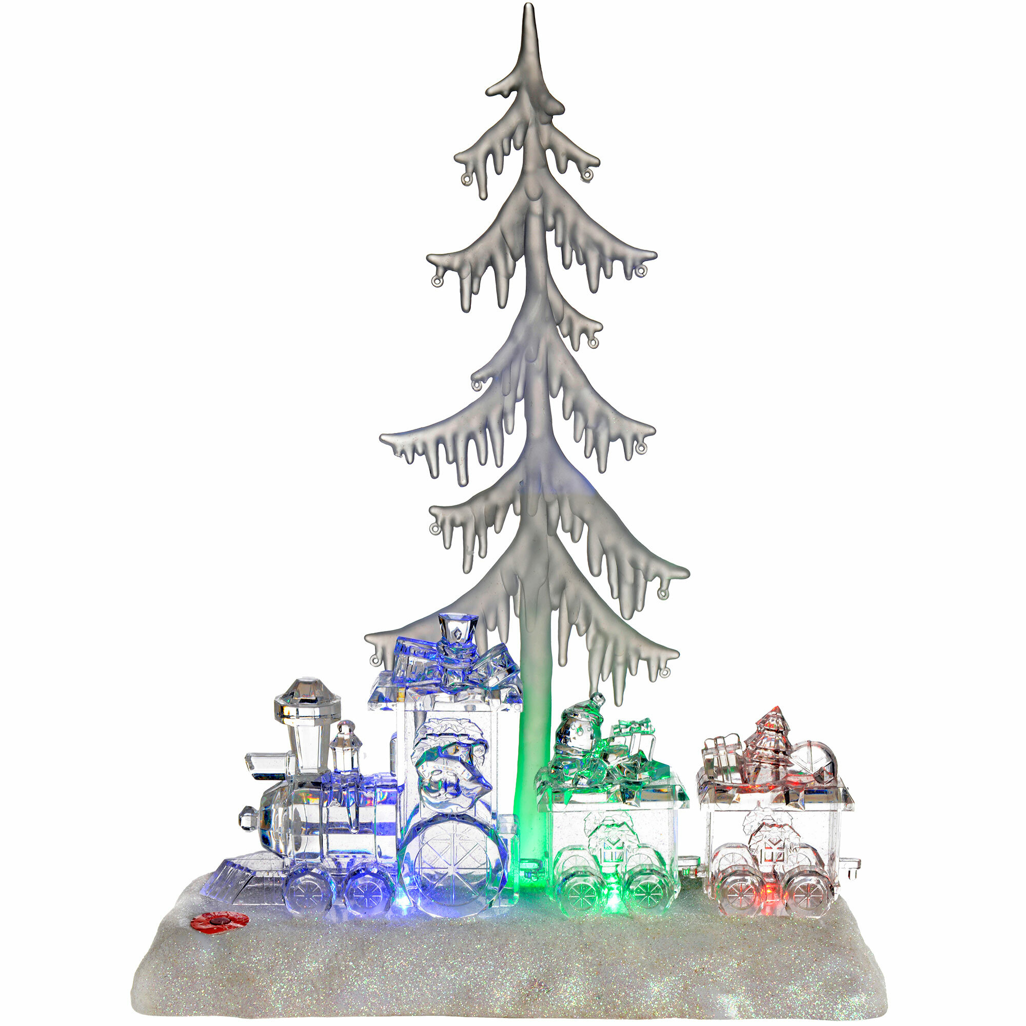 The Seasonal Aisle Pre-Lit Colour-Changing LED Musical Christmas ...