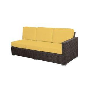 Latitude Run Carnegie Right Arm Patio Sofa with Sofa
