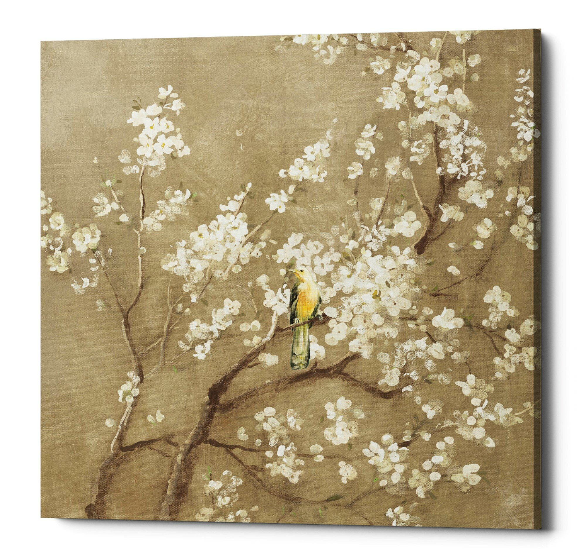 Bloomsbury Market White Cherry Blossom I Neutral Acrylic Painting Print On Canvas Wayfair