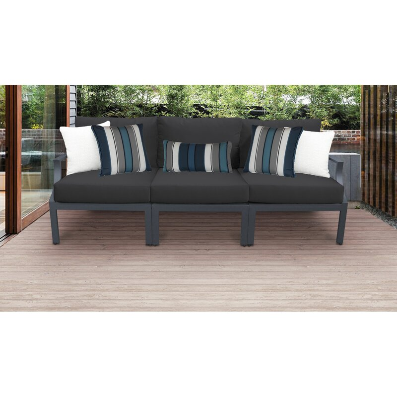 Ivy Bronx Benner Outdoor Aluminum 3 Piece Sectional Seating Group With Cushion Wayfair