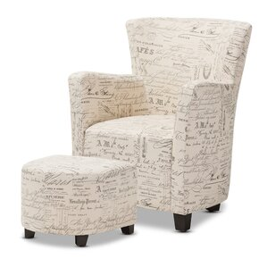 Sherine Armchair and Ottoman by Lark Manor