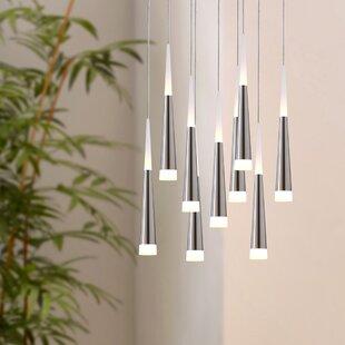 Wadley 9-Light LED Cluster Pendant by Orren Ellis